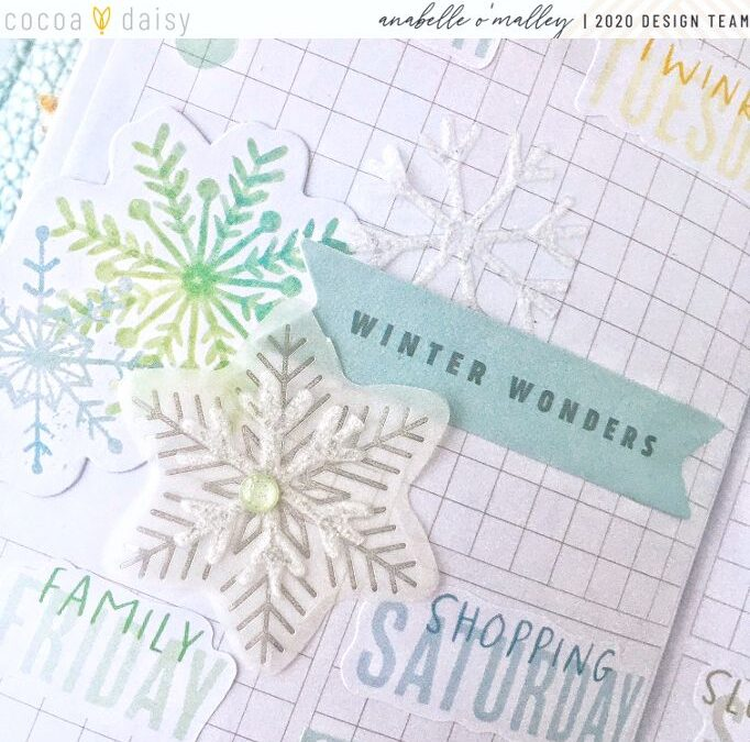 Wintery Planner Layout