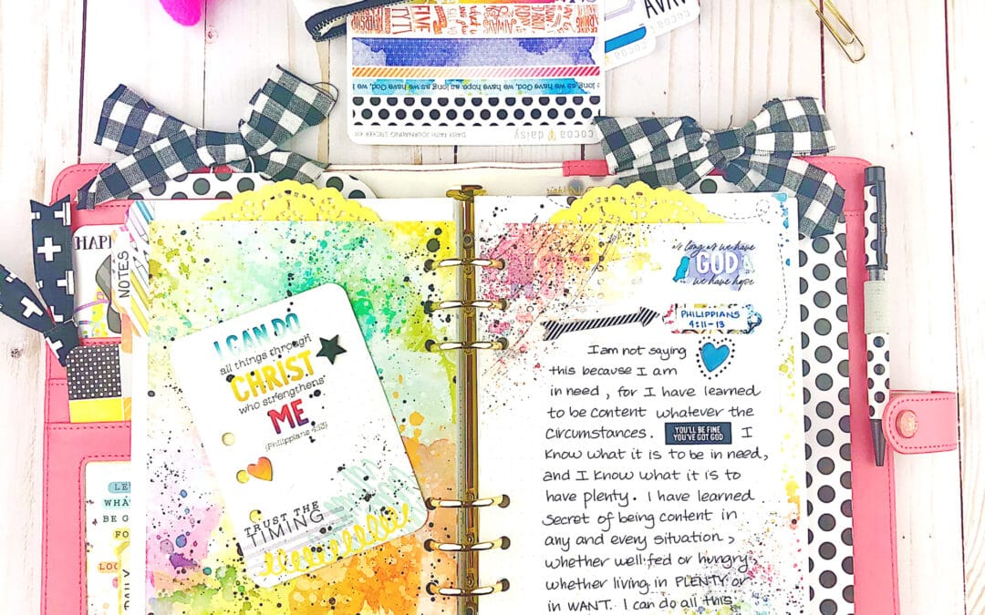 Add Bible Journaling To Your Planner!