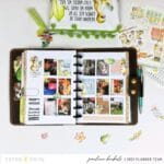 Step by step quick memory keeping weekly page