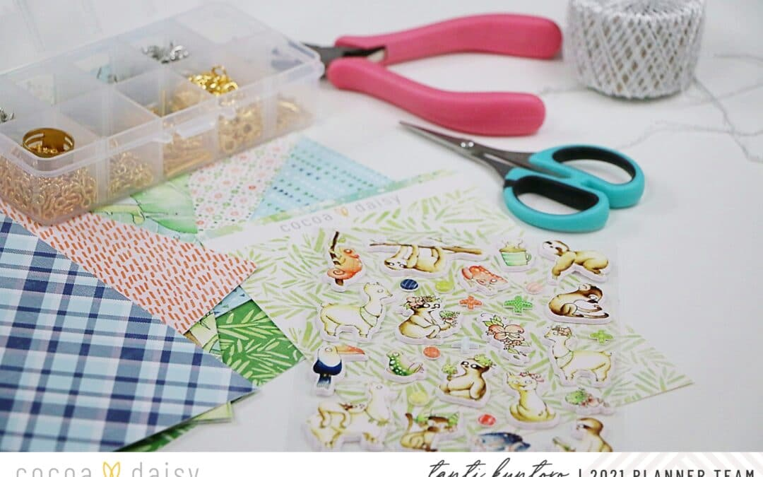 Decorating your planner using puffy sticker