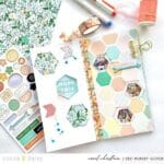 Embellishing with Hexagons and the Peach Ridge Collection