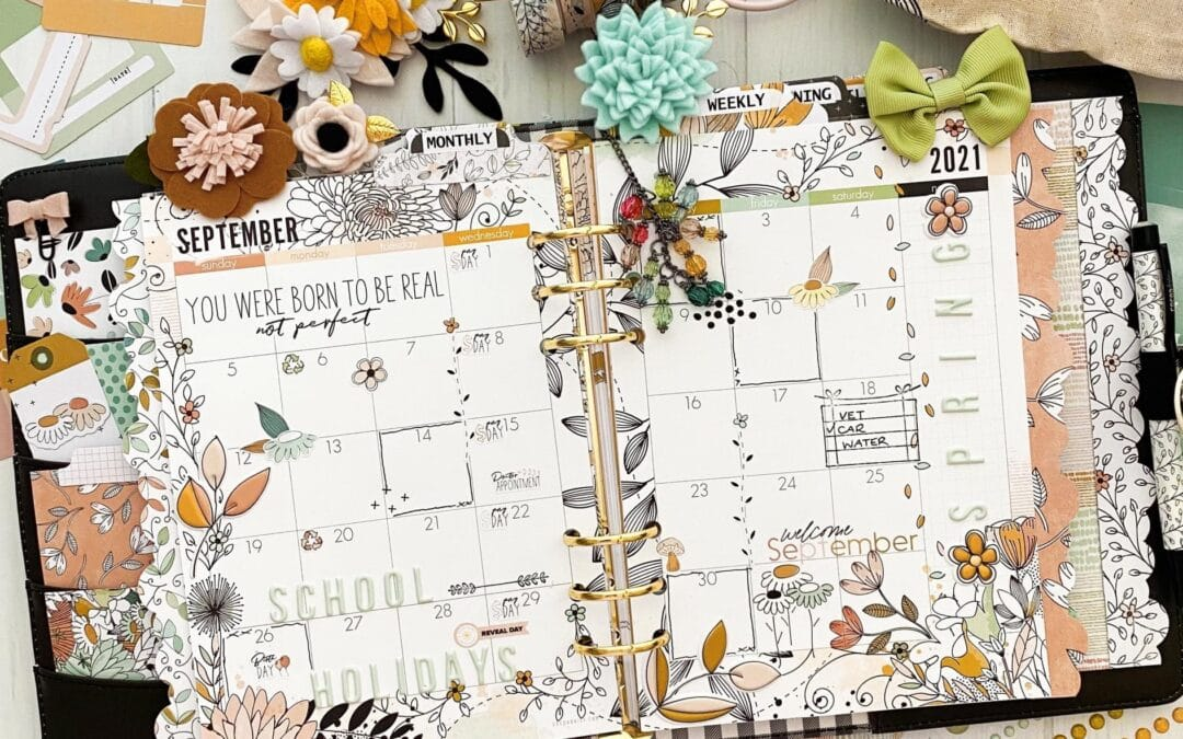 Monthly Pages with the Doodles and Dashes Collection