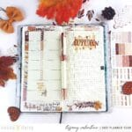 Planner Fun with the Umber and Gold Collection