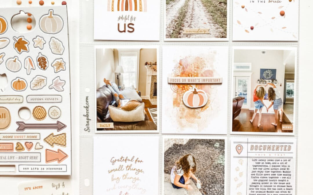 October Memory Keeping Guest Designer Recap | Shannon Dombkowski