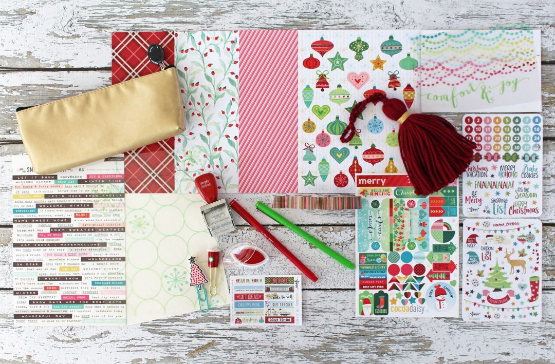 2016 christmas planner add on kit