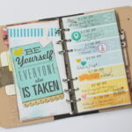 Decorating Daisy Day Planner Inserts