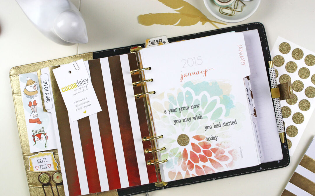 January Planner set up and free cut files!
