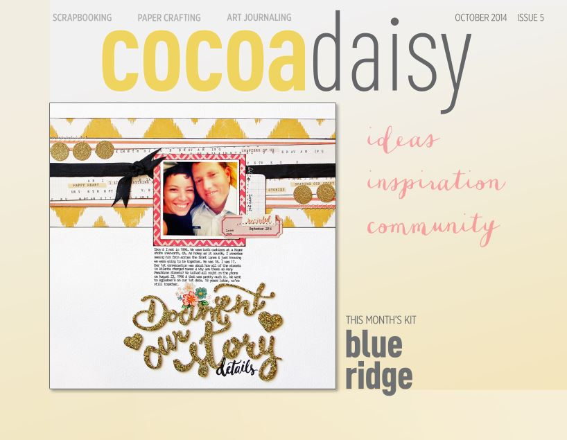 October's Cocoa Daisy Magazine