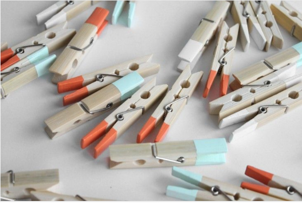 Decorating with Clothes Pins