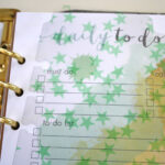 Day Planner page divider tutorial.