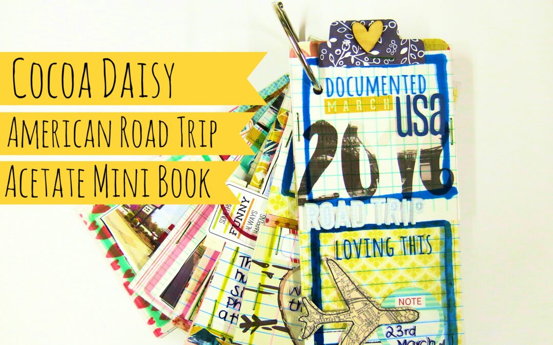 American Roadtrip Acetate Mini Book