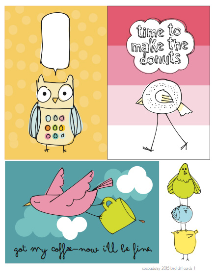 August FREE Birdy Printables