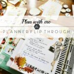 IDEAS. Plan with me & planner flip through. Pictures and video.