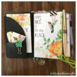 Using the August Planner kit in a Traveler's Notebook