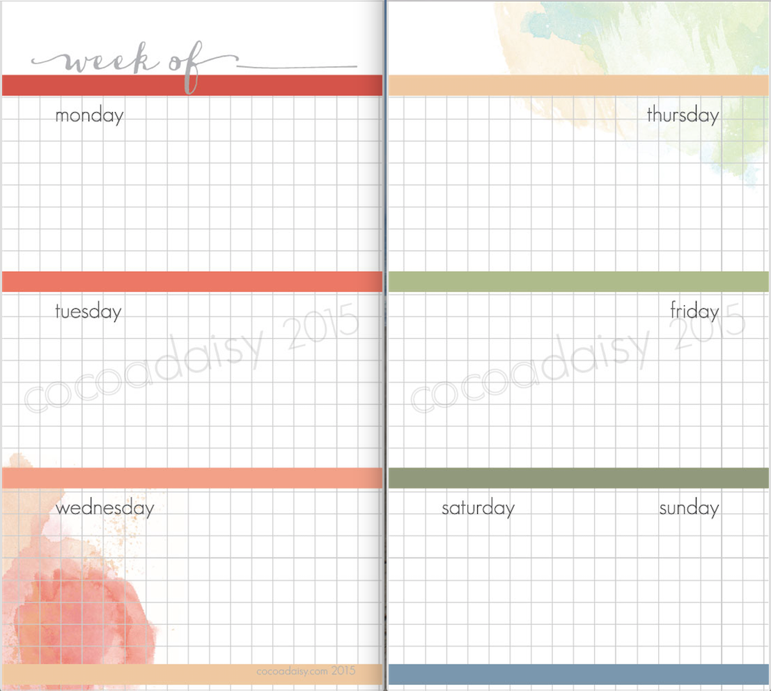 graphic about Weekly Planner Pages identified as Yrs Value Individual Weekly Planner Internet pages
