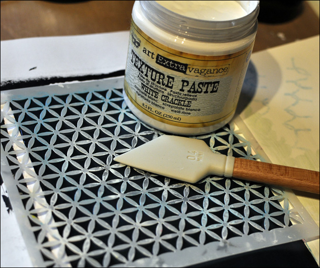 texture paste + stencil